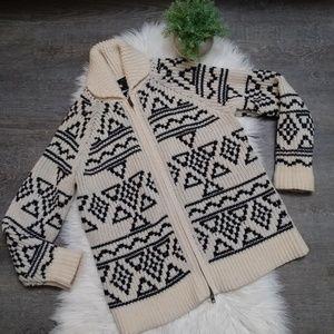 Vintage J.crew 100% Lambswool knit sweater jacket